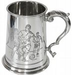 1pt Football Pewter Tankard